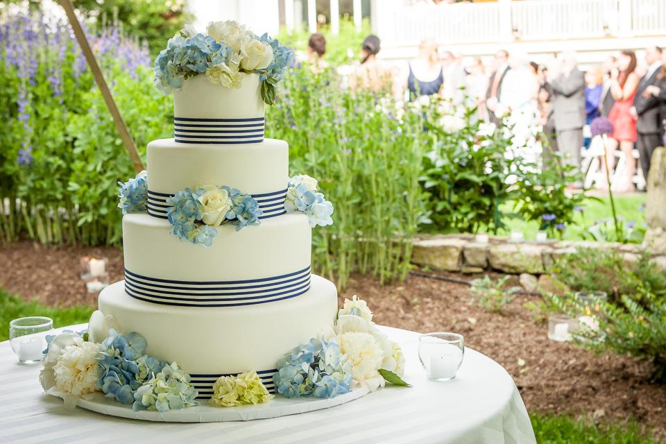 wedding cake under tent