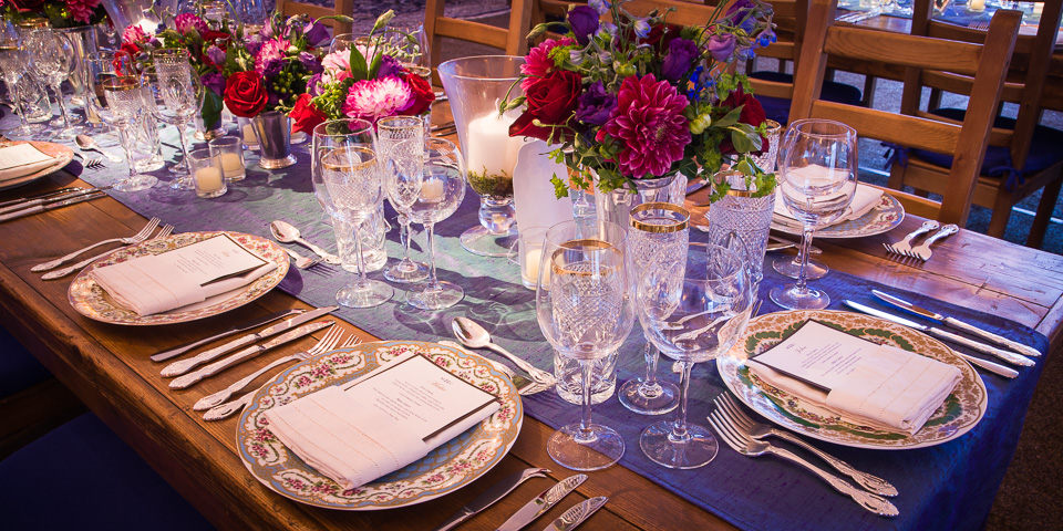 party table place setting